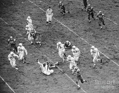 College Days Photograph - College Football Game From Above by H. Armstrong Roberts/ClassicStock