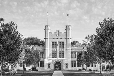 College Of Wooster Kauke Hall Print by University Icons