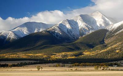 Collegiate Peaks From Buena Vista Colorado Print by Rhonda Van Pelt