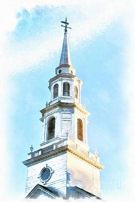 Concord Painting - Colonial Church Concord by Edward Fielding