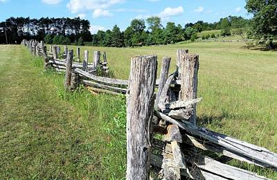 Colonial Fence At The Home Of Booker T Washington Print by Kevin Carbone