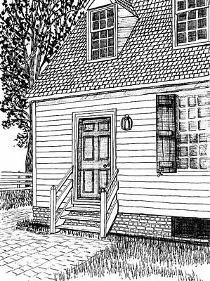 Colonial Home, Restored Area, Williamsburg, Virginia Revolutionary City Print by Dawn Boyer