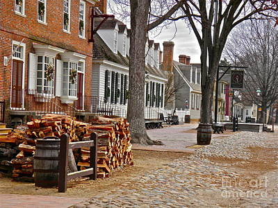 Colonial Photograph - Colonial Street Scene by E Robert Dee