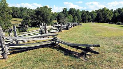 Colonial Zig Zag Fence At Booker T Washingtons Home Print by Kevin Carbone