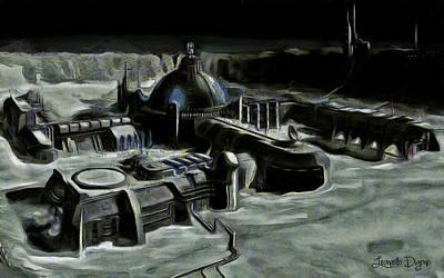 Lunar Digital Art - Colony - Da by Leonardo Digenio