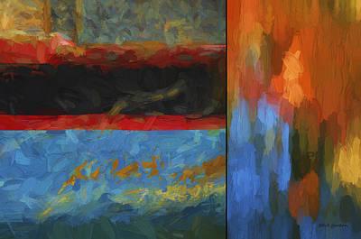 Chroma Digital Art - Color Abstraction Li  by David Gordon
