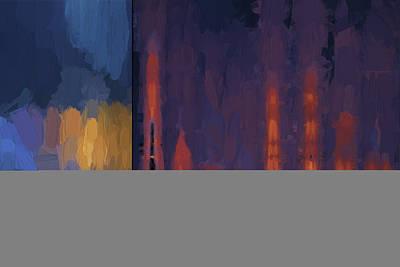 Chroma Digital Art - Color Abstraction Lii by David Gordon