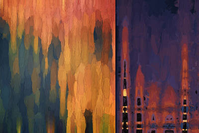 Chroma Digital Art - Color Abstraction Liv by David Gordon