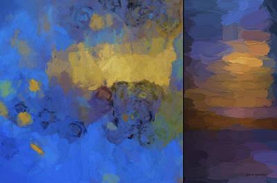 Chroma Digital Art - Color Abstraction Lix by David Gordon