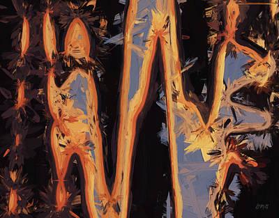 Chroma Digital Art - Color Abstraction Xli by David Gordon