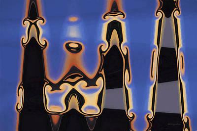 Chroma Digital Art - Color Abstraction Xliii by David Gordon