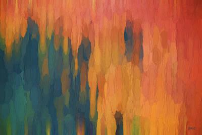 Chroma Digital Art - Color Abstraction Xlix by David Gordon