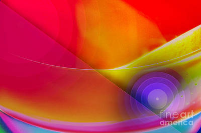 Color Burst Rainbow Abstract Print by Andee Design