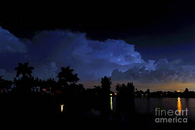 Lightning Photograph - Color Clouds by Quinn Sedam