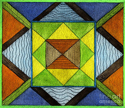 Color Fantasy Print by Norma Appleton