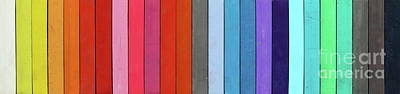 Color Range - Detail Of The Colored Pastels Print by Michal Boubin