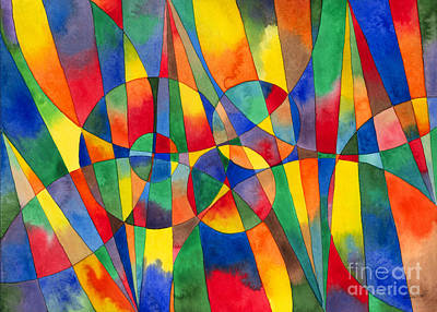 Shards Painting - Color Shards Watercolor by Kristen Fox