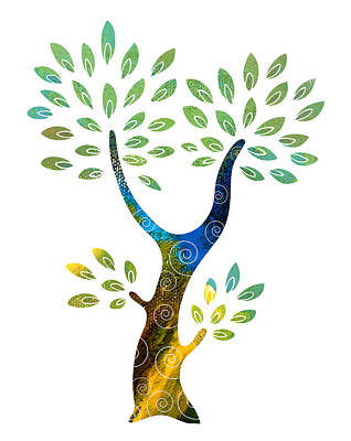 Color Tree Print by Frank Tschakert