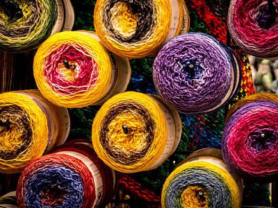 Color Wheels  Print by Jean Noren