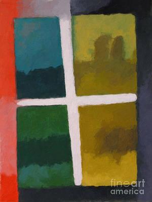 Colorfields Painting - Color Window by Lutz Baar