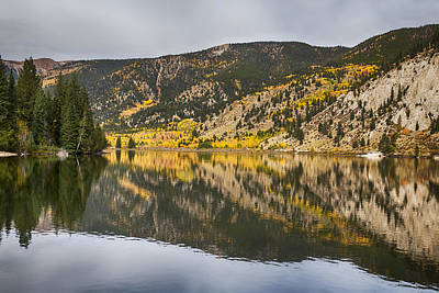 Colorado Autumn Fishing Lake Reflections Print by James BO  Insogna