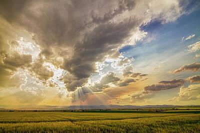 Sun Photograph - Colorado Big Sky Beams Of Sunshine by James BO Insogna