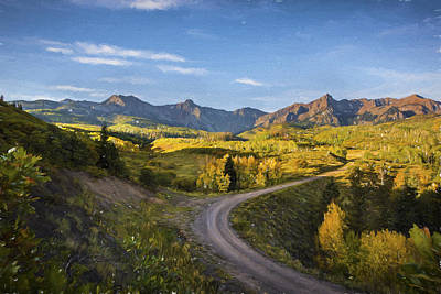 San Juan Digital Art - Colorado Curves by Jon Glaser