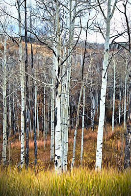 Moose Mixed Media Photograph - Colorado Fall Aspen by James Steele