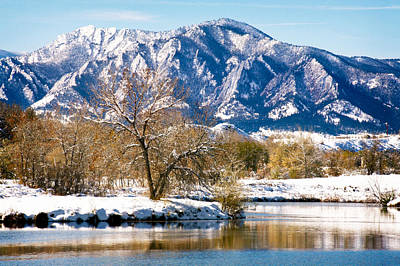 Walden Pond Photograph - Colorado Flatirons 2 by Marilyn Hunt