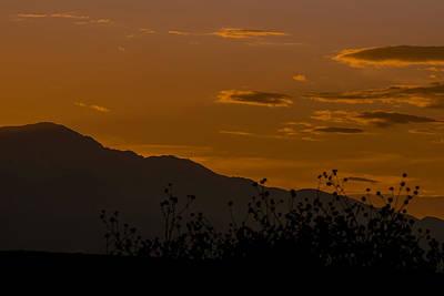 Colorado Front Range Sunset Print by Ernie Echols