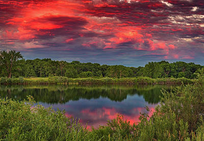 Colorado Ponds Sunset Print by Darren White