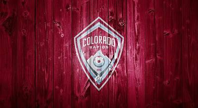Pablo Mixed Media - Colorado Rapids Barn Door by Dan Sproul