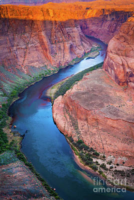 Harsh Photograph - Colorado River Bend by Inge Johnsson