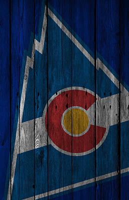 Ice Hockey Painting - Colorado Rockies Wood Fence by Joe Hamilton