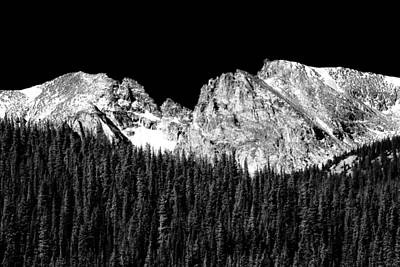 Colorado Rocky Mountains Indian Peaks Fine Art Bw Print Print by James BO  Insogna