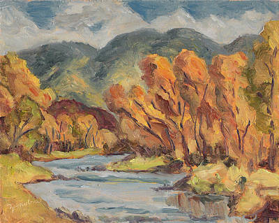Valleys And Peaks Painting - Colorado Yampa Valley Fall Steamboat Springs by Zanobia Shalks