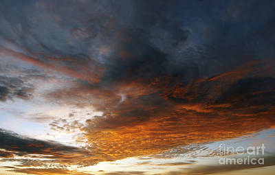 Colored Clouds At Sunset Print by Michal Boubin