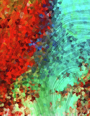 Colorful Abstract Art - Rejoice - Sharon Cummings Print by Sharon Cummings
