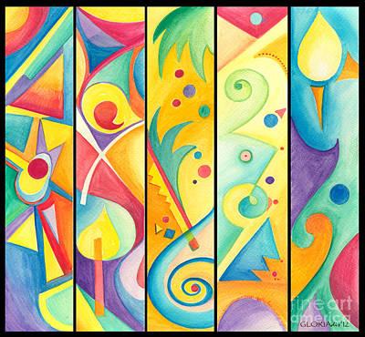 Colorful Abstract Original by Gloria Di Simone