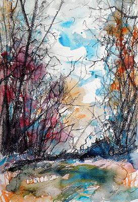 Autumn Landscape Painting - Colorful Autumn by Kovacs Anna Brigitta