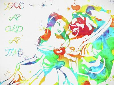 Castle Mixed Media - Colorful Beauty And Beast by Dan Sproul