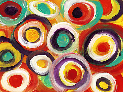 Abstract Forms Painting - Colorful Bold Circles by Amy Vangsgard