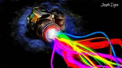 Waves Painting - Colorful Cam by Leonardo Digenio