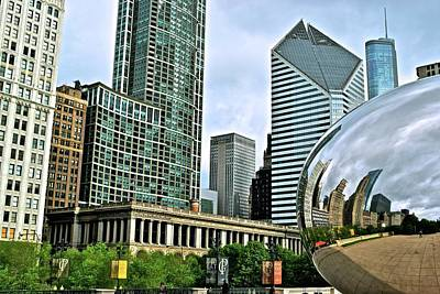 Photograph - Colorful Cloud Gate by Frozen in Time Fine Art Photography
