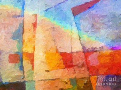 Digital Abstract Painting - Colorful Coast by Lutz Baar