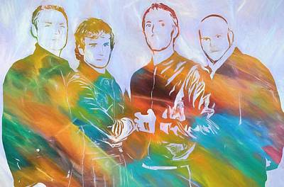 Coldplay Painting - Colorful Coldplay by Dan Sproul