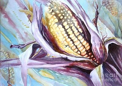 Maryann Painting - Colorful Corn by Maryann Schigur