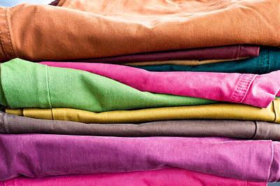 Rivets Photograph - Colorful Denim by Tom Gowanlock