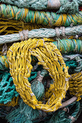 Fishnet Photograph - Colorful Fishing Nets by Carol Leigh