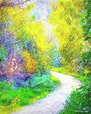 Santa Monica Digital Art - Colorful Garden Pathway - Trail In Santa Monica Mountains by Joel Bruce Wallach